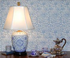 "William Morris ""Bird & Anemone"" Historic Wallpaper in 4 Colourways by Charles Rupert Designs"