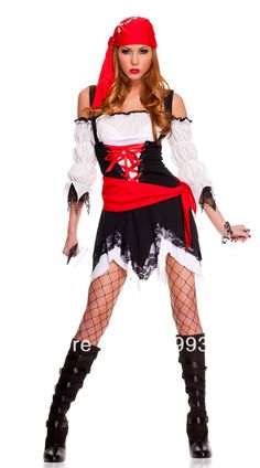 Aliexpress.com : Buy New arrive!!free shipping sexy pirate costume ,women's cosplay,sexy halloween  costumes with hat MS5311 from Reliable pirate costume suppliers on Hilen yang's store $22.98