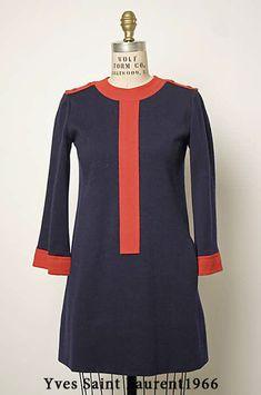 c0f6cd57370c ретро платье трапеция Yves Saint Laurent 1966 Yves Saint Laurent Designer, Saint  Laurent Dress,