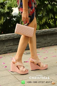 5a5fa396bb88d7 WesternRain New Promotion African Style Beauty Light Pink High Heel Wedge  Sandals Matching With Women Ladies