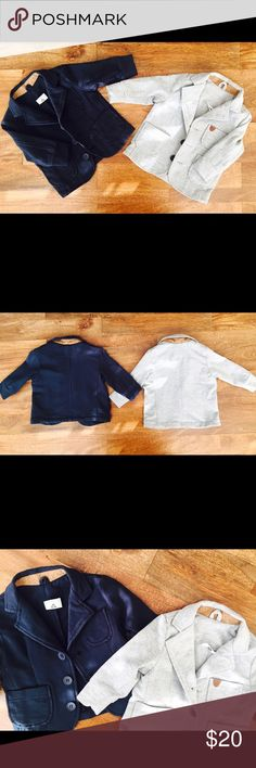 Baby Boy Cotton Blazer, 6-9 mths Baby boy blazer, Size 6-9 mts, available in gray and blue , Europian designer brand, super cute, great condition Jackets & Coats Blazers