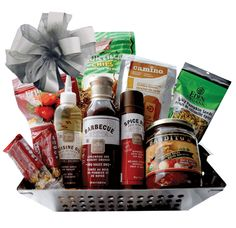 Hot Off The Grill BBQ Gift Basket, Bbq Gifts, Party Gifts, Easter Baskets, Gift Baskets, Hostess Gifts, Holiday Gifts, Grill Basket, Company Party, 4 H