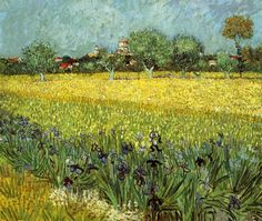 Vincent Van Gogh  View of Arles with Irises   1888