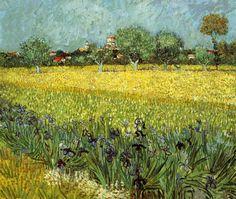 Vincent Van Gogh  View of Arles with Irises   1888