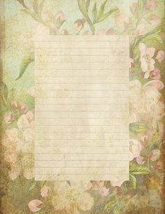 """Lilac & Lavender: """"Antiqued"""" lined paper & Stationery"""