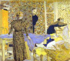 1893 The Studio or The Suitor oil on cardboard. ART & ARTISTS: Édouard Vuillard - part 1