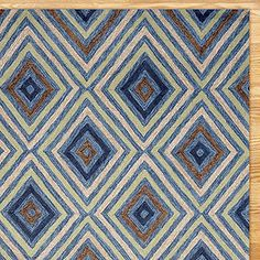 Kallia Indoor-Outdoor Rug, Denim | World Market -- would make the sketchy planks in my deck disappear...