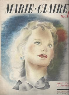 The first issue of Marie Claire dated March 5, 1937.