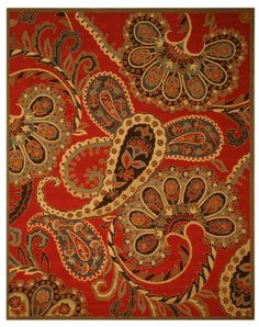 Hand Tufted Wool Red Paisley Rug Elegant & fun at the same time this Red Paisley rug can add instant life to any room Looped Pile - Primary materials: Wool - Pile height: 0.5 inches - Style: Transitio