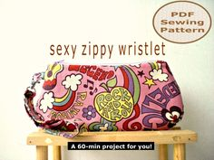 Free Printable Purse Patterns | Sexy Zippy Wristlet - PDF Bag Sewing Pattern on Luulla