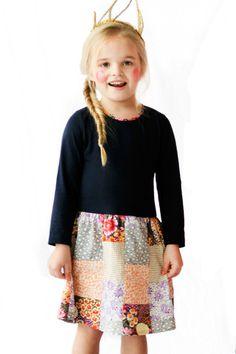 patchwork  dress idea
