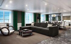 Grand Suite Rendering ~ Regent Seven Seas Cruises Reveals Seven Seas Explorer Suites | Popular Cruising (Image Copyright © Regent Seven Seas Cruises)