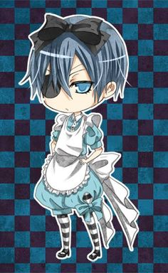 Ciel Phantomhive, i'ts more easy to draw him in chibi than in realistic version...