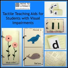 These free tactile teaching aids are available from the Oakmont Visual Aids Workshop.