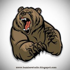 Photo about Vector of grizzly bear mascot. Illustration of fang, illustration, s… Photo about Vector of grizzly bear mascot. Bear Face Drawing, Grizzly Bear Drawing, Grizzly Bear Tattoos, Angry Bear, Angry Animals, Ours Grizzly, Art D'ours, Bear Claw Tattoo, Bear Vector