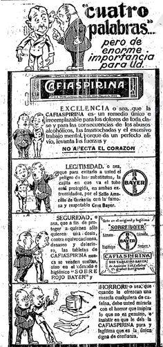 1925 - Anuncio de Cafiaspirina - Anuncio publicado en el Informador Guadalajara, Jalisco México