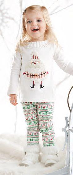 Santa Tunic and Legging by Mud Pie