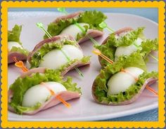 Party appetizers fingerfood Ideas for 2019 Snacks Für Party, Appetizers For Party, Appetizer Recipes, Egg Recipes, Cooking Recipes, Party Recipes, Catering, Comida Keto, Fingerfood Party