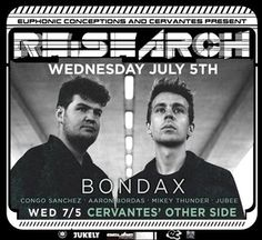 Bondax melodic poppy garage house tracks at Cervantes' Other Side this Wednesday!