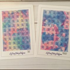 PayDay WaterColor Flags for Passion Planner, Erin Condren, Happy Planner, Bujo, Filofax, Kikkik... etc by LyRainzStickrzNStuff on Etsy