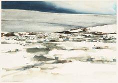 """Lars Lerin """"Snowhill"""""""