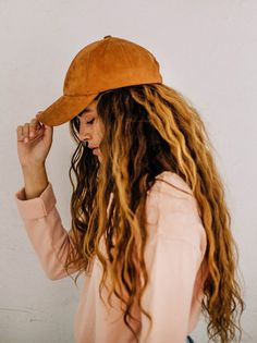 Williamsburg Faux Suede Baseball Hat at Free People Clothing Boutique