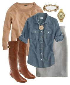 """""""Untitled #2190"""" by my4boys ❤ liked on Polyvore featuring J.Crew, Steve Madden and BaubleBar"""