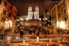 Why am I here and not there? Spanish Steps, Rome Italy