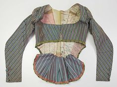 """ornamentedbeing: """" americanduchess: """" The Met: Jacket, late century Silk French What a fascinating pierrot-thing. It's rather weird, isn't it? And the lining is amazing! 18th Century Dress, 18th Century Costume, 18th Century Clothing, 18th Century Fashion, Historical Costume, Historical Clothing, Historical Dress, 1800s Fashion, Vintage Fashion"""