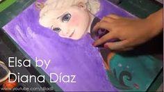 Queen Elsa of Arrendelle By:Diana Diaz Frozen Film, Elsa Frozen, Disney Frozen, Animation Film, Disney Animation, Diana Diaz, Elsa Cosplay, Disney Animated Films, Speed Art