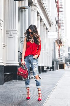 Lady in Red :: Asymmetry blouse