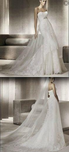 My wedding dress for mine and Preston's wedding can't wait !!!!