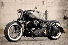 Customized Harley-Davidson Softail Cross bones Bobber by Thunderbike Customs