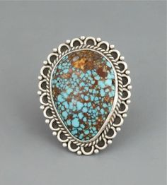 Ring   Perry Shorty. Sterling silver and natural stone from turquoise mountain