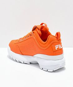 info for 35dab 23c72 FILA Disruptor II Orange Shoes. Orange SneakersOrange ShoesWhite ShoesAir  Max SneakersSneakers NikeFila DisruptorsOrange AestheticGirls ShoesLadies  Shoes
