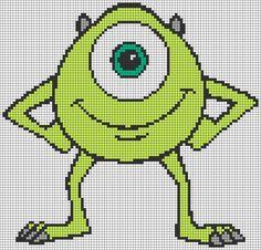 MIke Wazowski - Monsters, Inc perler bead pattern