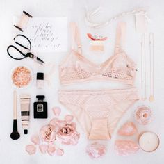 Bridesmaids Gift Flat Lay: The Wild Romantic / Styling by The LANE