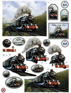 Masculine card topper - train: