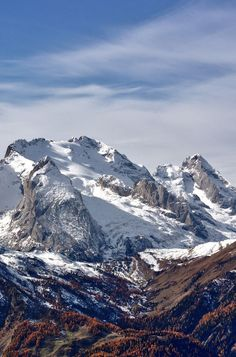 Marmolada (3343 m) is a mountain in northeastern Italy and the highest mountain of the Dolomites range.