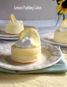 Lemon Pudding Cakes | Taking On Magazines | Bring the sunshine indoors with these bright, beautiful Lemon Pudding Cakes. They're a sweet treat that's easy to make and delicious to eat.