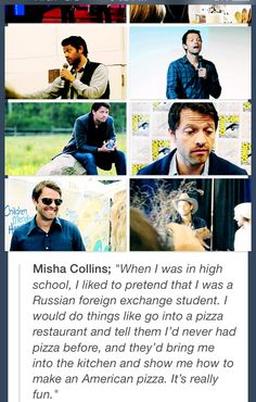Experience is the best teacher? All of life's a stage? I don't know, sounds like Misha crossed some wires somewhere. Either way, this is brilliant.