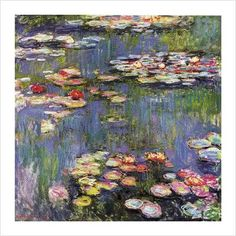 """Water Lilies ~ """"They are short-sighted those who call me a master : of good intentions, yes, but that's all.""""  ~Claude Monet"""