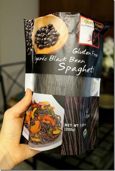 Be on the lookout for these! Gluten-Free Black Bean Noodles via @IttyBitsBalance