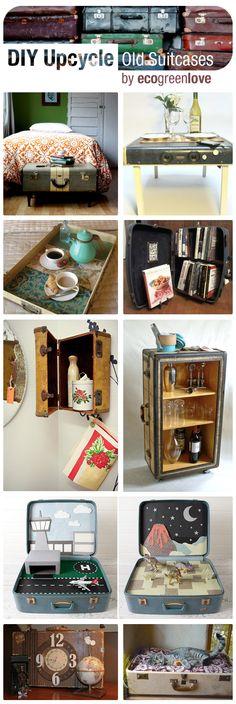 15+ Creative Ideas to Repurpose Old Suitcases | ecogreenlove
