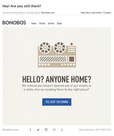Bonobos : We Miss You - Email Blasts - Ideas of Email Blasts - Bonobos : We Miss You Engagement Emails, Email Design Inspiration, We Missed You, Promotional Design, Your Email, Email Newsletters, Email Campaign, Web Banner, Powerful Words