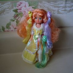 Lady Lovely Locks doll MAIDEN CURLY CROWN 1980s toy by aquarius247, $45.00