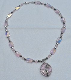 Pink Dragonfly Necklace by HillsideCreations on Etsy, $10.00