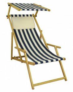 10 317 N KH S Liegestuhl Aus Holz Gartenliege Sonnenliege Deckcair +  Sonnendach | EBay