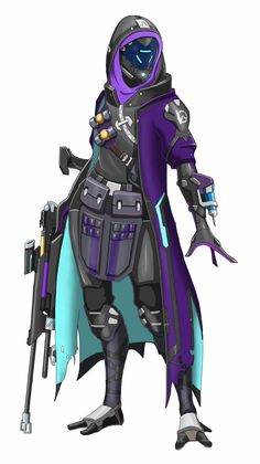 Overwatch Ana / Mass Effect Quarian crossover - spaceMAXmarine Fantasy Character Design, Character Concept, Character Art, Concept Art, Mass Effect Characters, Sci Fi Characters, Overwatch Symmetra, Overwatch Mercy, Overwatch Reaper