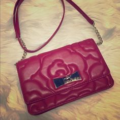 """Kate Spade Sedgewick Lane Rose Quilted Crossbody Rose-patterned quilted leather plays up the feminine vibe of this classic kate. Leather Crossbody strap Turnlock closure; lined Six interior card slots 8""""L x 1.5""""W x 5""""H; 23"""" strap drop kate spade Bags Crossbody Bags"""